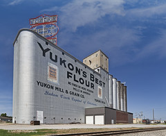 Historic Best Flour (Kool Cats Photography over 12 Million Views) Tags: yukonok oklahoma outdoor sky bluesky canon canoneos6d landscape architecture photography clouds ef1635mmf4lisusm tracks railroad historic route66 rural outdoors oklahomaphotographers yukonsbestflour mill