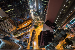 Don't Look Down 2 (TVZ Photography) Tags: hdr highdynamicrange sheungwan central hongkong hongkongisland towers flats buildings roads vertical city cityscape night evening lowlight longexposure sonya7riii sony 1635mm sel1635gm