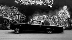 machine. (jonathancastellino) Tags: toronto lane graffiti cadillac fleetwood lowrider leica q2 shadow lift series hydraulics machine car