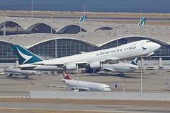 B-LJN, Boeing 747-8F, Cathay Pacific Airways, Hong Kong (ColinParker777) Tags: freighter freight cargo towing boeing 747 b747 748 748f b748 b748f aircraft airliner aeroplane plane airplane fly flying flight departure takeoff cx cpa cathay pacific airways airline airlines air vhhh hkg hong kong chek lap kok airport lantau mountains hills canon l pro zoom telephoto sky mountain cockpit bljn 5d 5dsr 200400l