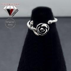 Bague au nom de la rose en argent 925 (olivier_victoria) Tags: argent 925 rose bague ajustable