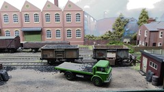 Coal Delivery, Tanners Yard. (ManOfYorkshire) Tags: tannersyard scale 176 model oogauge layout shipley show exhibition 2019 coal yard delivery lorry basetoys
