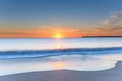 Sunrise at the Seaside (Merrillie) Tags: daybreak sunrise shipwreckwalk headland australia stocktonbeach sky morning sea breakwall newsouthwales clouds earlymorning nsw landscape beach ocean seascape nature stockton coastal newcastle outdoors waterscape water coast dawn seaside