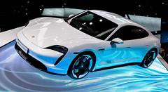 Porsche Taycan turbo S (muman71) Tags: 2019 iaa automobilausstellungfrankfurt auto automobilmesse fuji xt2 dscf2973 porsche taycan eauto f7 iso800 26mm 1200sec
