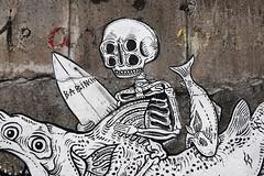 "Babinch Art - ""Salmon dance"" (Thethe35400) Tags: poisson fish pescado fisch arrain peix peixe pesciu pesce fisk ryba peşte artderue arteurbano arturbain arturbà arteurbana calle fresque grafit grafite grafiti graffiti graffitis graff mural murales muralisme plantilla pochoir stencil streetart schablone stampino tag urbanart wall crâne skull crane tête cráneo schädel crani cloigeann höfuðkúpa cranio"