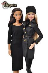 New outfits for Barbie dolls (elenpriv) Tags: barbie doll black dress hat jacket leggins mattel dolls clothes dollclothes handmade elenpriv elenprivfashionacademy elena peredreeva
