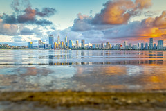 Perth City in the Morning (GLN IMAGES) Tags: cityscape perth australia tamron nikon d850 sunrise cloud river water wideangle low city