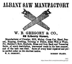 1862 Albany Saw Manufactory (albany group archive) Tags: albany ny history 1862 saw manufactory 49 liberty street robert blake
