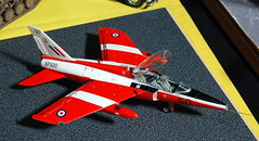 1/48 scale Folland Gnat T.1 on the Club With No Name stand at the ASVC Wombourne Show, 8th September 2019. (Roly-sisaphus) Tags: modelshows scalemodels modelcompetitions asvcwombourne 2019