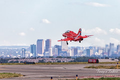 September 17, 2019 - A Royal Air Force Red Arrow takes flight. (Tony's Takes)