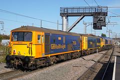 GB Railfreight 73136 - Peterborough (Neil Pulling) Tags: gbrailfreight 73136 73109 66771 gbrf peterboroughstation eastcoastmainline train locomotive railway ecml transport