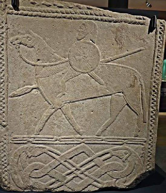 29 Рельеф из Хорнхаузена с изображением всадника ок. 700 г.