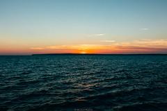 El Pilar in the distance (Nicola Pezzoli) Tags: formentera isola island spain sea mediterraneo mare holiday vacanze baleari baleares nature natura el pilar mola beach piratabus sunset orange sun