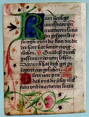 PRAYER BOOK LEAF Ref 586 verso (RMGYMss.) Tags: medieval illuminated manuscript medievalmanuscript illuminatedmanuscriptprayerbook germany german miniature saintlucy sanctalucia augsburg