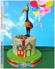 Kevin the Bird Birthday Cake (alinepatisserie) Tags: bigbird kevin up upmovie balloons edible handmade almond marzipan artwork cakeart cakeartist cakelove cakelovers cakestudio cakeboutique