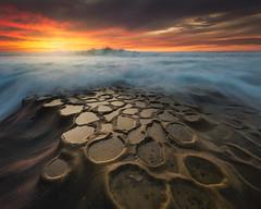 Pot Holes (David Colombo Photography) Tags: wave ocean pacific lajolla reef davidcolombo nikon sea seascape landsape sunset colors
