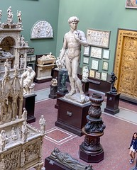 Cast of Michelangelo's David in the Victoria and Albert Museum, London (lhboudreau) Tags: museum victoriaandalbertmuseum london england gallery artgallery statue statues marble artwork people uk unitedkingdom david michelangelosdavid michelangelo cast sculpture