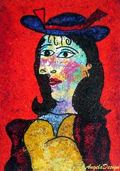 After Pablo Picasso N57 (Angela.B) Tags: picture picasso polymerclay polymer painting fimo art colorful multicolor