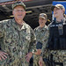 Chief of Naval Operations Adm. Mike Gilday visits with Sailors aboard USS Detroit (LCS 7).