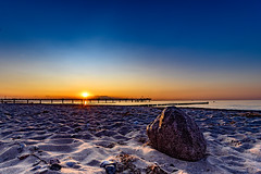 Beach - Baltic Sea - Heiligendamm 3820 (Peter Goll thx for +13.000.000 views) Tags: beach strand ocean meer sea balticsea ostsee stone stein sunset heiligendamm sonnenuntergang pier seebrücke jettybridge