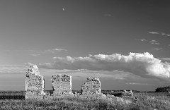Roxborough (TigerPal) Tags: saskatchewan sask prairie plains monochrome lipton church roxborough presbyterian roxboroughpresbyterianchurch ruin abandoned forgotten stone fieldstone dustyroad gravelroad