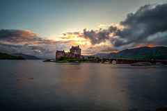Eilean Donan Castle (dannygreyton) Tags: eileandonancastle scotland highlands castle sunset clouds longexposure longexposureshot fujifilmxt2 fujifilm fujinon1024mm fujifilmxseries jamesbond lake