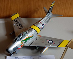 1/32 North American F-86F Sabre, ASVC Wombourne Show, 8th September 2019. (Roly-sisaphus) Tags: modelshows scalemodels modelcompetitions asvcwombourne 2019