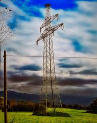 Natur, Technik und urbanes ... (einfache Fotomomente) Tags: huawei eval09 ƒ22 45 mm 11642 50 storchennest strommast landschaft mobile