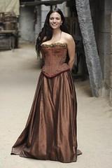 elisa_mouliaa_durante_el_rodaje_de_aguila_roja (merchant2046) Tags: leather taffeta prom dress strapless gown corset history historical period drama