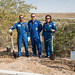 Expedition 61 crew with spaceflight participant plant trees in their names