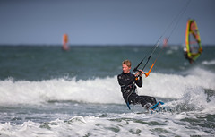 Young kite surfer, Udsholt Beach, Denmark (andrériis) Tags: denmark canon surfing kite young