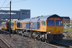 GB Railfreight 66771 - Peterborough (Neil Pulling) Tags: gbrailfreight 73136 73109 66771 gbrf peterboroughstation eastcoastmainline train locomotive railway ecml transport