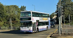 AU53 HJN. First Volvo 32477, Colchester, 18th. September 2019. (Crewcastrian) Tags: colchester buses transport first volvo transbus au53hjn 32477
