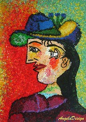After Pablo Picasso N58 (Angela.B) Tags: picture picasso polymerclay polymer painting fimo art colorful multicolor