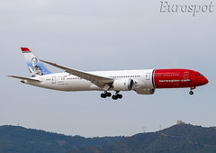 SE-RXZ Boeing 787 Norwegian (@Eurospot) Tags: lebl barcelona serxz boeing 787 7879 norwegian