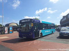 TUI 7937 (MX61AWV) 3808 Arriva Sapphire Midlands East in Nuneaton (Nuneaton777 Bus Photos) Tags: arriva sapphire midlands east wright pulsar tui7937 mx61awv 3808 nuneaton
