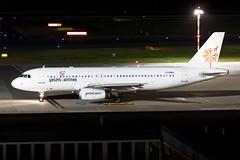 LY-EMU GetJet Airlines Airbus A320-233 (buchroeder.paul) Tags: eddl dus dusseldorf düsseldorf international airport flughafen deutschland germany europa europe external night nacht ground boden lyemu getjet airlines airbus a320233