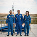 Spaceflight participant with Expedition 61 crewmembers