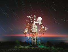 "Monument to Freedom or 'The Flower of Freedom"", Gevgelija, Macedonia. (inhiu) Tags: spomenik monument lightpainting longexposure urbex abandoned decay derelict destroyed macedonia gevgelija yugoslavia soviet"