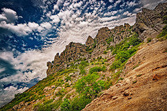 _MG_4784 (Mikhail Lukyanov) Tags: russia crimea landscape mountain demerdzhi ghostvalley rocks trees sky clouds