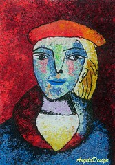 After Pablo Picasso N59 (Angela.B) Tags: picture picasso polymerclay polymer painting fimo art colorful multicolor