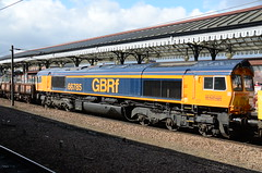 70816, 56049, 56087 & 66785 at York (stephen.lewins (1,000 000 UP !)) Tags: colas gbrf class66 class56 class70 70816 56049 56087 66785 sheds ecml york yorkshire railways