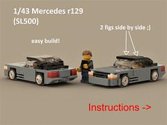 easy mercedes 1/43 (ron_dayes) Tags: lego mercedes sl 500 r 129 1990