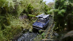 Deep in the Jungle (ManOfYorkshire) Tags: rangerover land rover range 176 scale model car auto oogauge oxforddiecast jungle diorama scratchbuilt homemade diecast transamerica expidition ladders roof detailed weathered mk1