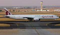 A7-BAU (Ken Meegan) Tags: a7bau boeing7773dzer 41739 qatarairways johannesburg 1692016 boeing777 boeing777300er boeing 7773dzer 777300 777 b777 b777300 b7773dzer