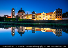 Czech Republic - Jaromerice nad Rokytnou Chateau at Dusk - Twilight - Blue Hour - Night (© Lucie Debelkova / www.luciedebelkova.com) Tags: jaroměřicenadrokytnou jaroměřicenadrokytnouzámek world trip travel vacation holiday tourism europe tour place czech eu visit location tourist journey czechrepublic destination traveling exploration bohemia touring europeanunion cechy ceskarepublika czechia centraleurope cesko čechy česko českárepublika jaromericenadrokytnouchateau reflection castle history water night river twilight outdoor dusk historical bluehour chateau visiting waterscape luciedebelkova wwwluciedebelkovacom luciedebelkovaphotography