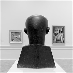 The Observer (Olli Kekäläinen) Tags: work5119 nikon d800 photoshop ok6 square ollik 2019 20190918 bw riga latvia artmuseum blackandwhite