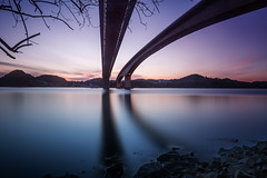 varodd bridge (bjorns_photography) Tags: bridge construction water reflection view photography blue sunset bluehour norway outdoor kristiansand norge