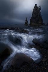 Stormy Mood (AirHaake) Tags: mood ocean sea seascape washington seastack wave waves beach longexposure