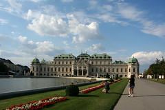 At the Upper Belvedere (Wolfgang Bazer) Tags: upper oberes belvedere schloss barockschloss barock baroque palace ducks enten clouds wolken wien vienna österreich austria